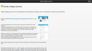 Create a Skype account