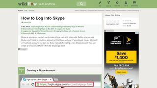 6 Ways to Log Into Skype - wikiHow