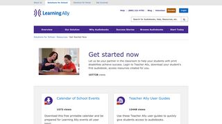 Educator Resouces: Get Started Now - Learning Ally