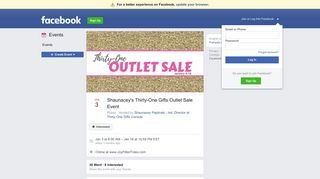 Shaunacey's Thirty-One Gifts Outlet Sale Event - Facebook