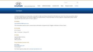Contact - Hyundai MPG Info