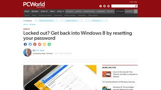 Remove and reset passwords on Windows 8 and later   PCWorld