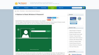 6 Options to Reset Windows 8 Password with / without Reset Disk