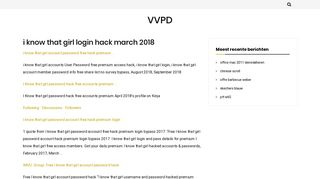 i know that girl login hack march 2018 – VVPD