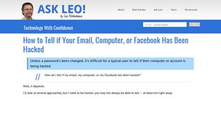 How to Tell if Your Email, Computer, or Facebook Has Been Hacked ...