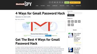 4 Ways for Gmail Password Hack - TheTruthSpy