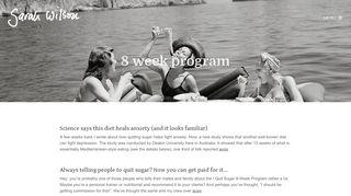 Sarah Wilson | 8 week program Archives - Sarah Wilson