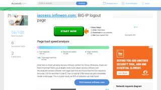 Access iaccess.infineon.com. BIG-IP logout page