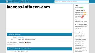 BIG-IP logout page - iaccess.infineon.com   IPAddress.com