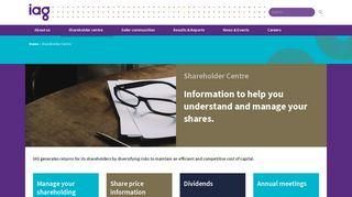 Shareholder Centre   IAG Limited