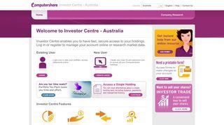 the IAG Investor Centre - Computershare Investor Centre - Australia