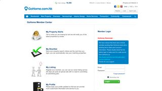 HK Property Portal|GoHome Member Login - GoHome.com.hk