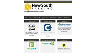 IAH - New South Parking   Home Page