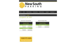 IAH ecopark - New South Parking