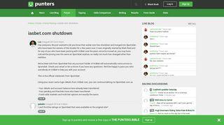 iasbet.com shutdown - Punters