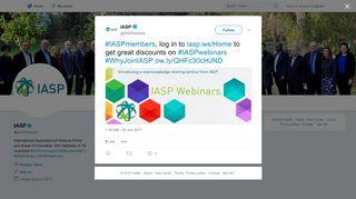 IASP on Twitter: