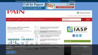 PAIN - LWW Journals - Wolters Kluwer