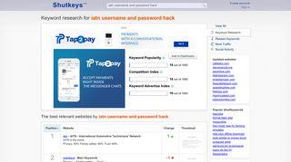 Iatn username and password hack - keyword research - Shutkeys