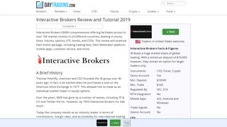 Review of Interactive Brokers - Platform, Mobile App and Commission