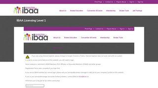 IBAA Licensing Level 1 - Insurance Brokers Association of Alberta