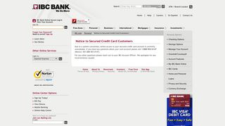 IBC Bank   Secured Credit Card