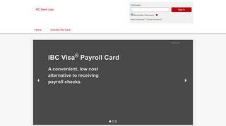 IBC Bank - Home Page - visaprepaidprocessing.com