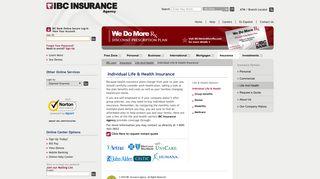 Individual Life and Health Insurance   IBC Insurance Agency - IBC.com