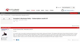Investor's Business Daily - Subscription worth it? - RedFlagDeals ...