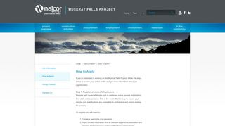 How to Apply | Nalcor Energy – Lower Churchill Project - Muskrat Falls