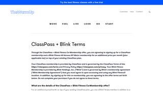 ClassPass + Blink Terms - The Warm Up