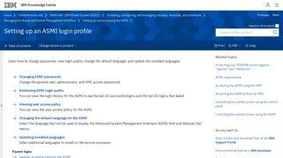 Setting up an ASMI login profile - IBM