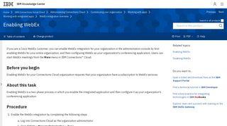 Enabling WebEx - IBM