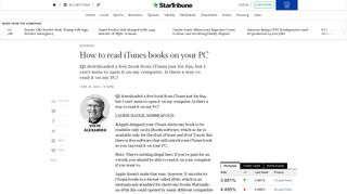How to read iTunes books on your PC - StarTribune.com