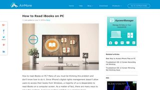 How to Read iBooks on PC - AirMore