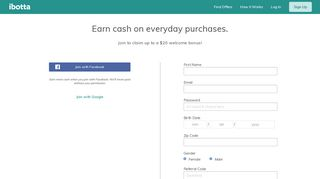 Sign Up - Ibotta.com