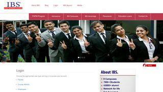 Login | IBS Business School is one of the Best B School & MBA ...