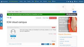 ICAI cloud campus - Students Forum - CAclubindia