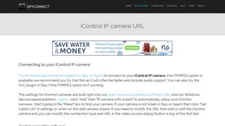Connect to iControl IP cameras