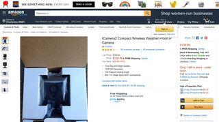 Amazon.com : ICamera2 Compact Wireless Weather Proof IP Camera ...