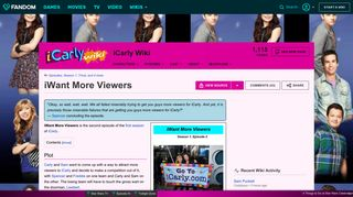 iWant More Viewers | iCarly Wiki | FANDOM powered by Wikia