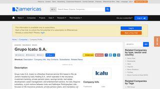 Grupo Icatu S.A. (Icatu) - BNamericas