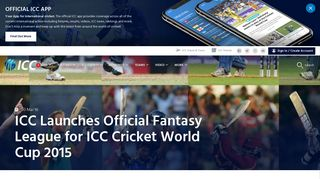 ICC Launches Official Fantasy League for ICC Cricket World Cup 2015