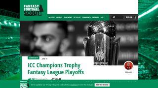 ICC Champions Trophy Fantasy League Playoffs