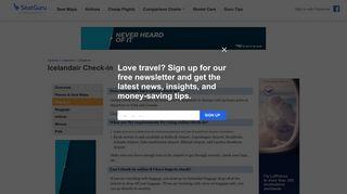 Icelandair: Check-in Policy - SeatGuru