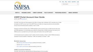 iCERT Portal Account User Guide   NAFSA