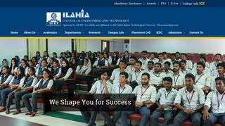 Ilahia College of Engineering and Technology:home