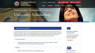University Scholarship - International Career Institute