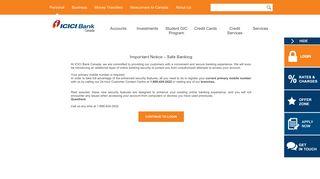 ICICI Bank Canada-Customer Service Representative