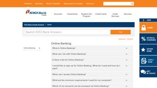 ICICI Bank Answers   Online Banking