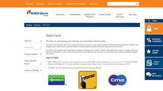 Debit Card - Visa and MasterCard Debit/ATM Cards - ICICI Bank ...